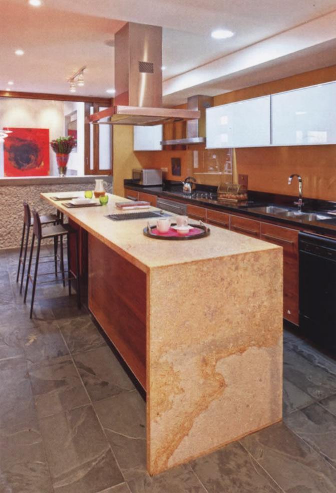Mesones para cocina quarry - Marmol para cocinas ...
